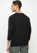 JEEP - Louie graphic crew pullover - black