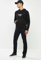 JEEP - Barry logo hooded pullover - black
