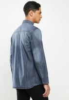 JEEP - Sivy plain long sleeve denim shirt - indigo