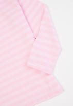 Rebel Republic - Girls 2 pack stripe tees - navy & pink