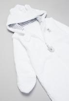 POP CANDY - Hooded sleepsuit - white
