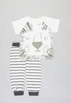 POP CANDY - Tee & pants set  - white & grey