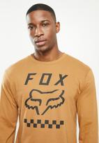 Fox - Never in doubt long sleeve top - bronze