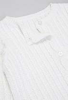 POP CANDY - Baby girls knitted cardigan - white