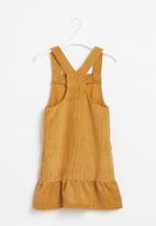 POP CANDY - Younger girls pinafore dress - mustard