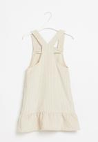 POP CANDY - Younger girls pinafore dress - beige