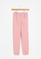 SISSY BOY - Grateful for today basic sweatpants - pink