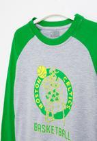 NBA - Celtics icon logo long sleeve tee - green & grey