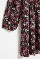 Superbalist - Girls button through dress - purple ditsy