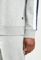 Nautica - Fleece logo crew - grey