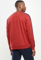 Nautica - Fleece logo crew - red