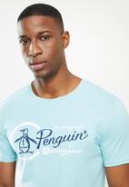 Original Penguin - Combo logo tee - blue