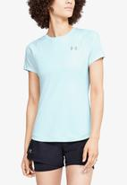Under Armour - Qualifier iso-chill embossed short sleeve top - blue