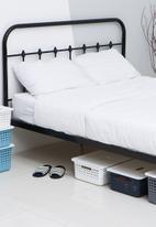 Litem - Set of 2 myroom i basket with lid large - blue