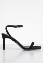 Missguided - Barely there low heel - black