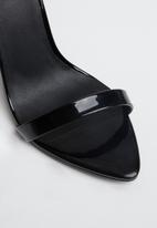 Missguided - Pointed toe barely there patent - black