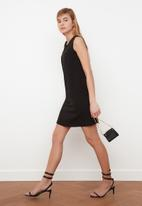 Trendyol - Siyah basic sleeveless dress - black