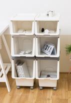 Litem - Set of 2 roomax sliding living box slim small - white
