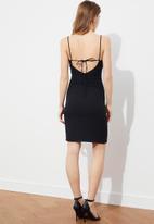 Trendyol - Siyah thin strap back detailed dress - black