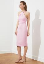 Trendyol - Lila powder collar detailed dress - lilac