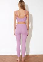 Trendyol - Lila camisole knitted pajamas set - lilac