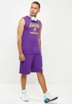NBA - Lakers purple retro vest (straight hem)  - cotton single jersey - purple