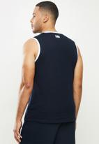 NBA - NBA sleeveless T-shirt (straight hem)  - cotton single jersey - navy