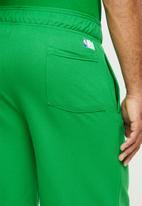 NBA - Celtic b/ball retro shorts  - cotton birdseye / surf interest - green