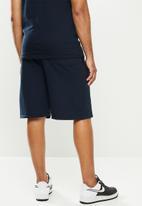 NBA - Nba b/ball retro shorts  - cotton birdseye / surf interest - navy