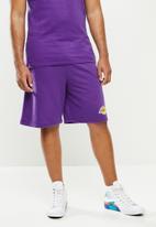 NBA - Laker b/ball retro shorts  - cotton birdseye / surf interest - purple