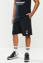 NBA - Miami b/ball retro shorts  - cotton birdseye / surf interest - black