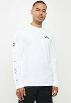 RVCA - All out rvca long sleeve - white