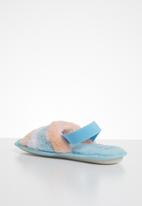 Jada - Rainbow fluffy slipper - blue & pink