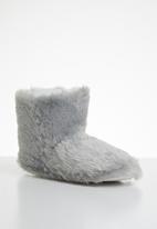 Jada - Fluffy slipper boot - grey