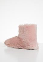 Jada - Fluffy slipper boot - pink