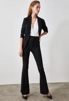 Trendyol - High waist spanish trousers - black