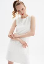 Trendyol - Ekru basic dress - ecru