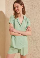 Trendyol - Woven pajamas set - mint