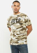 JEEP - Ezra short sleeve graphic tee - stone