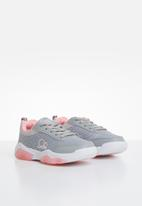 POP CANDY - Lace-up girls trainers - grey & pink