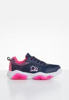 POP CANDY - Lace-up girls trainer - navy & pink