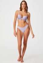 Cotton On - Party pants seamless bikini brief - lilac dream