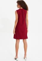 Trendyol - Bordo claret basic dress - burgundy