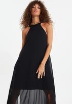 Trendyol - Siyah slit dress - black