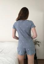 Trendyol - Polka dot short pajamas set - blue