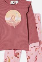 Cotton On - Edith long sleeve pyjama set - very berry