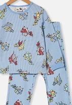 Cotton On - Noah long sleeve pyjama set - frosty blue