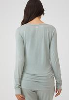 Cotton On - Sleep recovery maternity henley top - desert sage wash