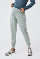 Cotton On - Sleep recovery maternity pant - desert sage wash