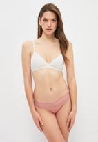 Trendyol - Pudra panties - powder pink & khaki
